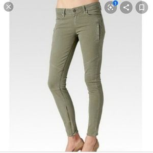 PAIGE Marley olive green skinny jeans